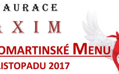 SVATOMARTINSKÉ MENU 8 – 12. LISTOPADU 2017